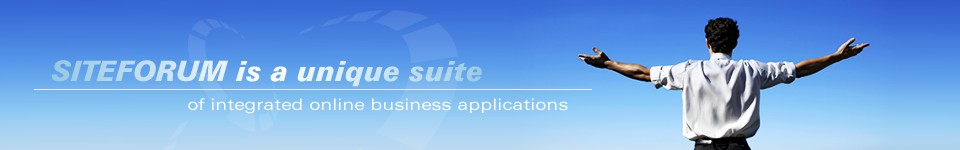 SITEFORUM is a unique suite of integrated online business applications