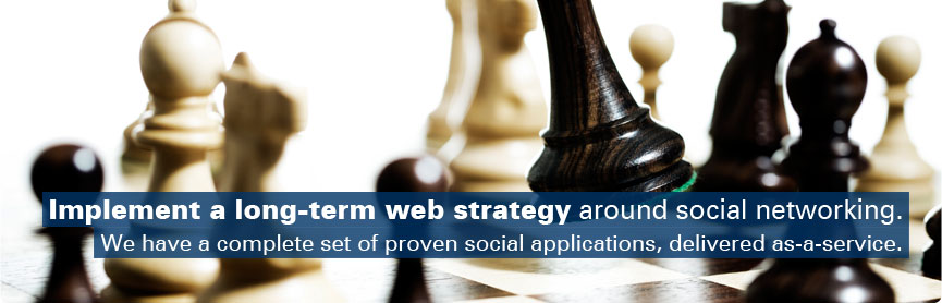 Implement a long-term web strategy around social networking.