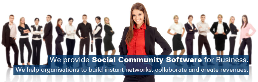 We provide Social Community Software for Business