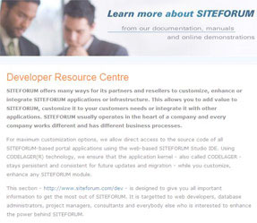 Developer Resource Centre